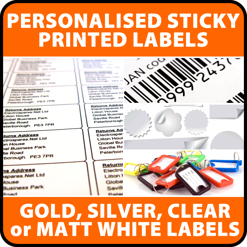Personalised Pre Printed Labels