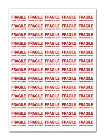 500+ - FRAGILE - Handle With Care Labels Small Stickers