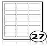 Address Labels  - 27 labels x 100 A4 Sheets - 59.5 mm x 29.5 mm
