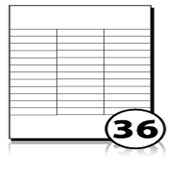 Address Labels  - 36 labels x 500 A4 Sheets - 70 mm x 16 mm