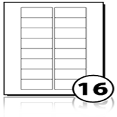 Address Labels  - 16 labels x 100 A4 Sheets - 67 mm x 33 mm
