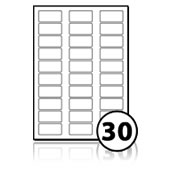 Printer Freezer Labels  - 30 labels x 100 A4 Sheets - 51 mm x 25 mm