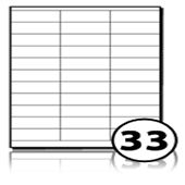 Printer Address Labels  - 33 labels x 100 A4 Sheets - 70 mm x 25 mm