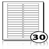 Address Labels  - 30 labels x 100 A4 Sheets - 80 mm x 15 mm