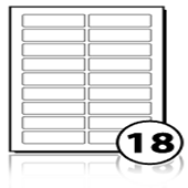 Address Labels  - 18 labels x 100 A4 Sheets - 85 mm x 25 mm
