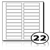 Address Labels  - 22 labels x 100 A4 Sheets - 80 mm x 22.5 mm