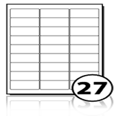 Freezer Labels  - 27 labels x 500 A4 Sheets - 63.5 mm x 29.6 mm
