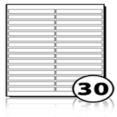 Printer Address Labels  - 30 labels x 100 A4 Sheets - 100 mm x 13 mm