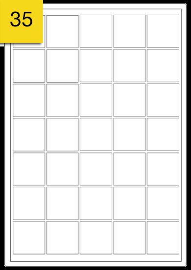 Square Labels  - 35 labels x 100 A4 Sheets - 37 mm x 37 mm