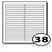 Address Labels  - 38 labels x 500 A4 Sheets - 90 mm x 11 mm
