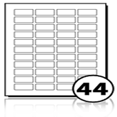 Address Labels  - 44 labels x 100 A4 Sheets - 39 mm x 19 mm