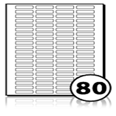 Multipurpose Labels  - 80 labels x 100 A4 Sheets - 38 mm x 9 mm