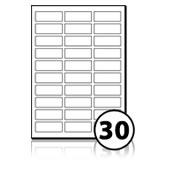 Printer Address Labels  - 30 labels x 100 A4 Sheets - 60 mm x 22 mm