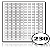 Multipurpose Labels  - 230 labels x 100 A4 Sheets - 14 mm x 9 mm