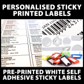 1000 Personalised Printed Sticky Mini Address Labels Print