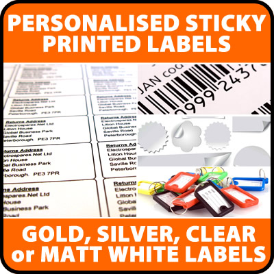 500+ Personalised Gloss Clear Adhesive Mini Labels